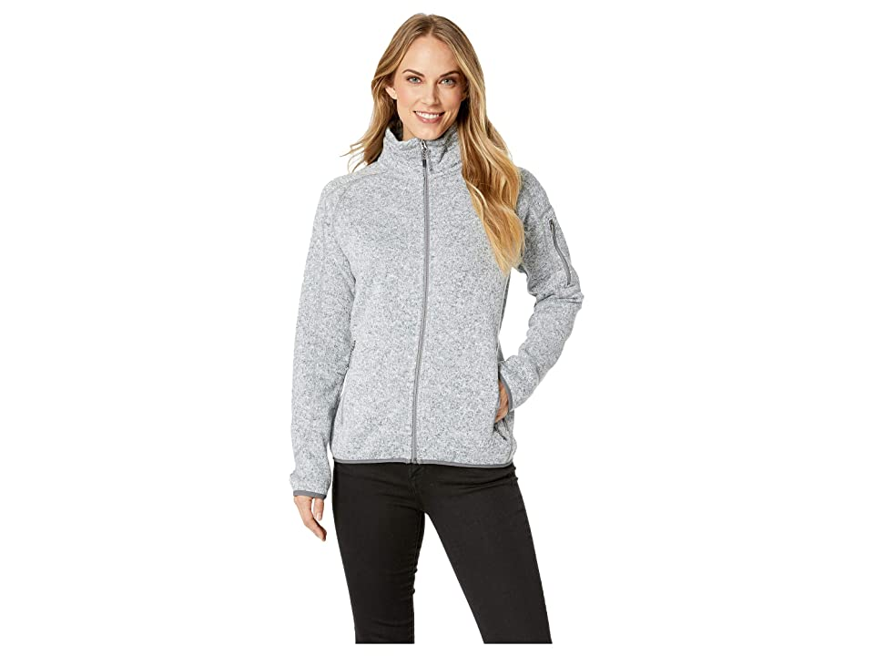 White Sierra Sweater Fleece Full Zip Jacket (Heather Gray) Women