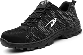 8149f418 Aizeroth-UK Hombre Mujer Zapatillas de Seguridad con Punta de Acero  Antideslizante TranspirableS3 Zapatos de