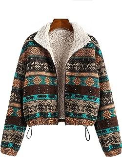 MIHOLL Women's Fashion Long Sleeve Sweater Zip up Faux Fur Shaggy Shearling Jacket