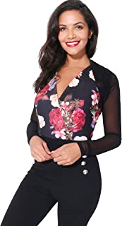Krisp Womens Sheer Mesh Long Sleeve Shrug Bolero Sweater Cardigan Top