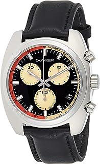 Calvin Klein Men's Quartz Watch, Chronograph Display and Leather Strap K8W371C1
