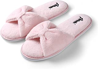 Aerusi SEP004038 Women's Indoor Home Bedroom Single Pair Slippers, USA Size 7/European Size 38, Pink