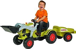 BIG - Claas Celtis Loader mit Anhänger - Kindertrettraktoren, Spielfahrzeug mit Präzisionskettenantrieb, 3-fach verstellbarer Sitz, bis 50 kg, Claas Lizenz, für Kinder ab 3 Jahren