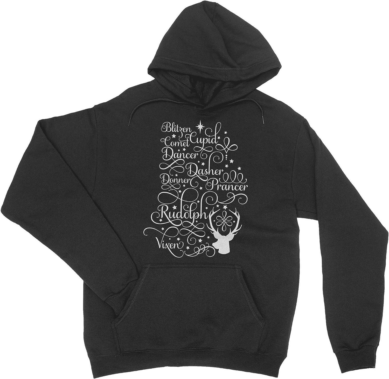 HARD EDGE DESIGN Albuquerque Mall Max 43% OFF Boy's Youth Names T-Shirt Reindeer Banner