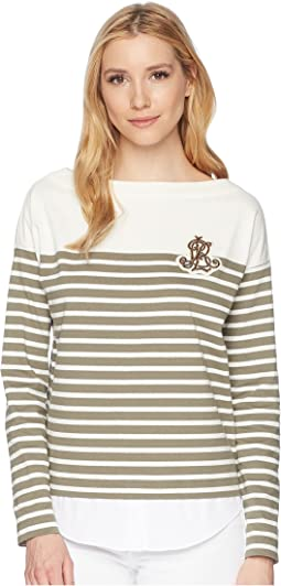 Striped Layered Cotton Sweater
