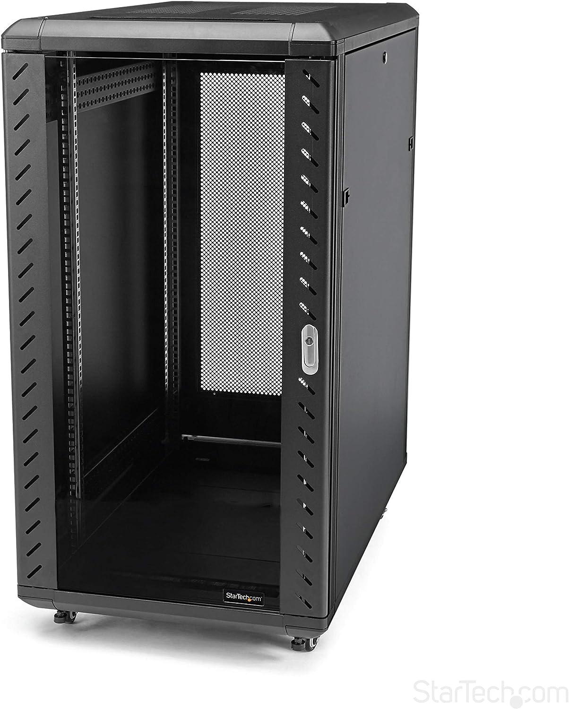 StarTech.com 22U Server Rack Cabinet with secure locking door - 4 Post Adjustable Depth (5.5