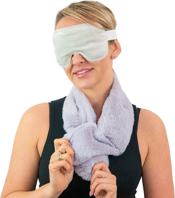 Saco semillas microondas + Antifaz gel frio o caliente – Cojin cervical cervical + bolsa térmica para los ojos – Saco semillas microondas + Bolsa gel frio – Antiojeras mujer – Regalos originales