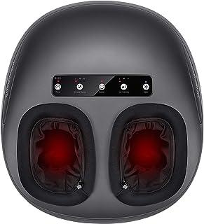 دستگاه ماساژور پا Medcursor با حرارت ، ماساژ خمیر ورز عمیق شیاتسو ، تنظیمات چند سطح ، فشرده سازی هوا ، ماساژور غلتکی عضله برقی برای زنان و مردان ، متناسب با پا تا مردان اندازه 12.