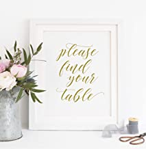 Arvier Printable Please find Your Table Table Seating Sign Table Sign Party Table Sign find Your seat Sign Wedding Seating Gold Sign 00L3