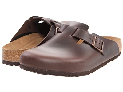 Birkenstock Boston Soft Footbed (Unisex) (Brown Amalfi Leather) Clog Shoes