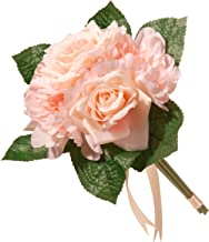 National Tree 12.2 inch Mixed Peach Rose and Peony Bouquet (RAS-7555RPE-1)