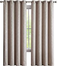 LinenZone Evelyn - Embossed Thermal Weaved Blackout Curtain with 8 Grommets - Room Darkening & Noise Reduction Fabric - Blocks up to 97% of Sunlight - Premium Draperies (1 Panel 54