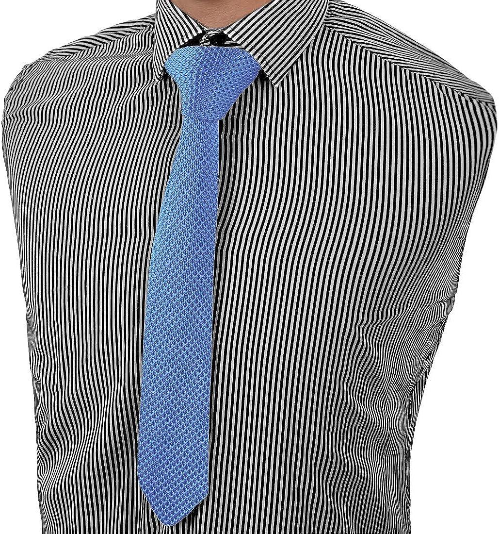 Dan Smith Skinny Knit Tie For Men 2 in Mens Skinny Knit Neck Tie Solid Ties Vintage