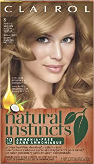 Clairol Natural Instincts, 8/5 Champagne on Ice Medium Natural Blonde, Semi-Permanent Hair Color, 1 Kit