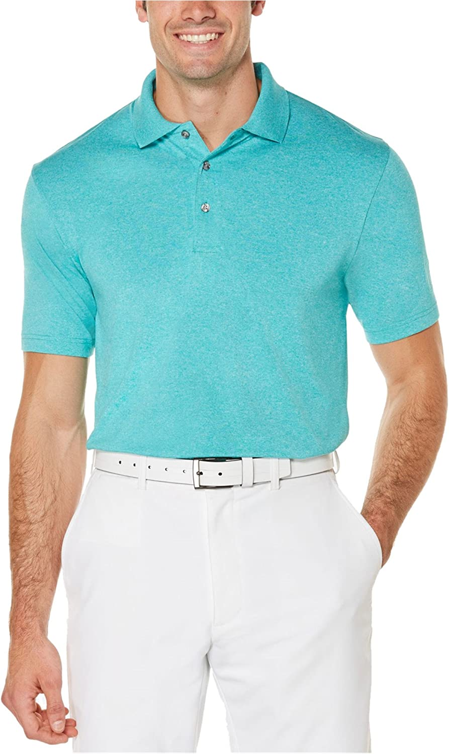 PGA TOUR Mens Heathered Rugby Blue Polo Shirt Max 85% 5 ☆ popular OFF X-Large