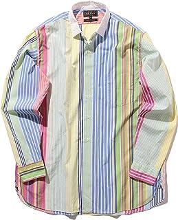 [ビームスプラス] BEAMS PLUS シャツ レギュラーカラー マルチストライプシャツ メンズ