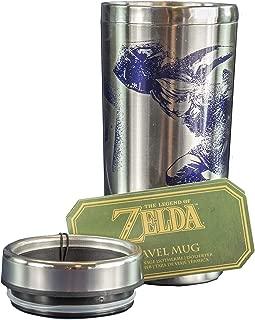 Paladone The Legend of Zelda Link Travel Mug - Hylian Shield Design Commuter Coffee Cup