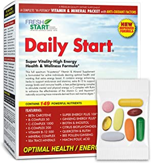 Daily Start - Complete Daily Vitamin Pack - 10X Energy, Stamina, Immune Booster - Essential Vitamins, Minerals, Herbs, Ant...