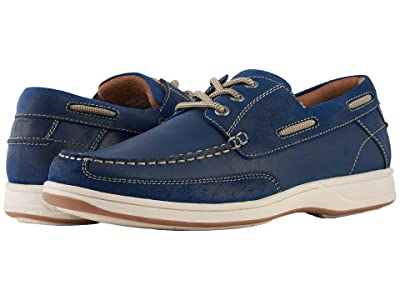 Florsheim Lakeside Moc Toe Oxford (Indigo Smooth/Suede) Men