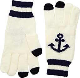 KNG3480 Knit Gloves with Anchor and Tech Fingertips