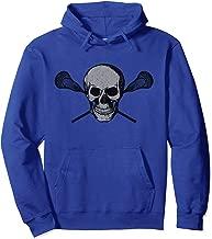 LACROSSE | Vintage Lax Skull Crossbones Sticks Lacrosse Pullover Hoodie