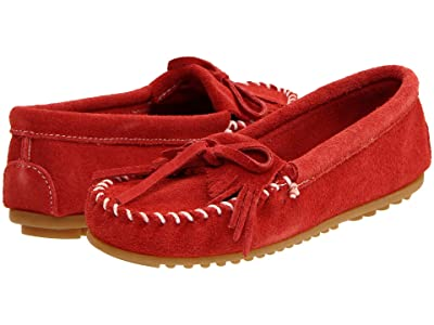 Minnetonka Kilty Suede Moc (Red Suede) Women
