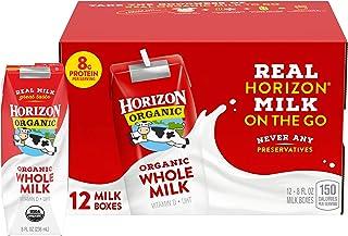 Horizon Organic Whole Milk Single, 8 Fl Oz (Pack of 12)