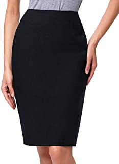 e7ee6467af Kate Kasin Women's Knee Length Pencil Skirts Slim Fit Business Skirt