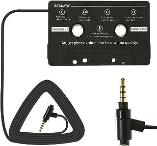 BESDATA Adaptador de Cassette para Coche para iPod, iPad,