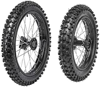 WPHMOTO Front 70/100-17 + Rear 90/100-14 Wheels Tires and Rim Inner Tube With 15mm Bearing Assembly For Dirt Pit Bikes