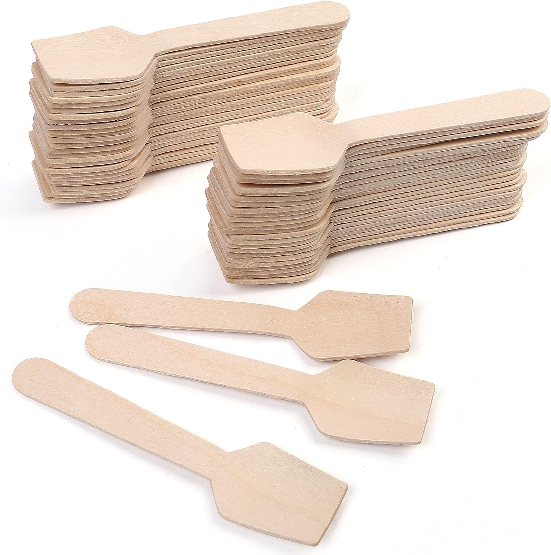 Max 64% OFF LotFancy Phoenix Mall 120 Pack Mini Wooden Tasting Disposable Spoons Samplin