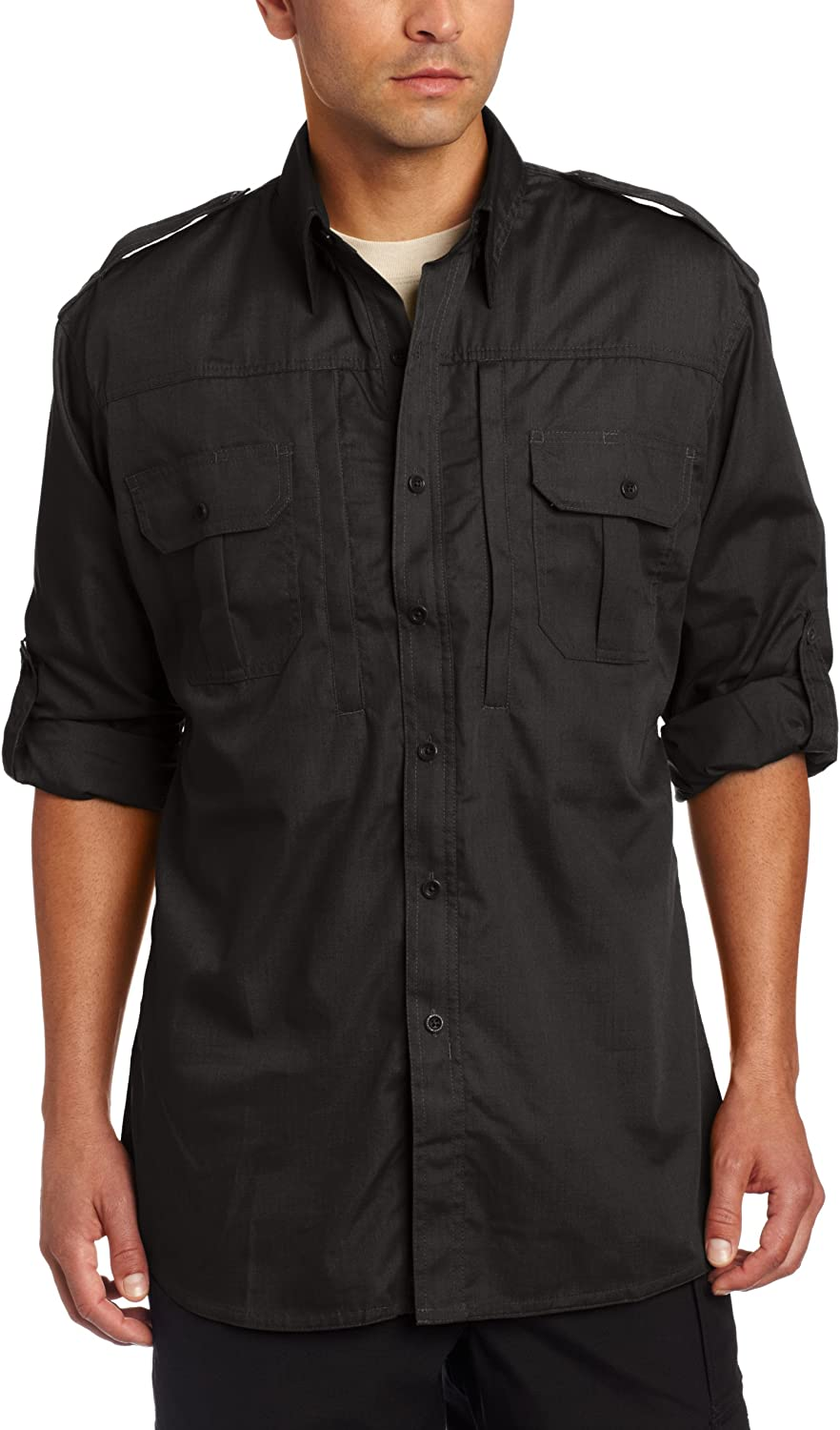 Propper Men's Long Sleeve Tactical Black - Sales for sale Shirt Fresno Mall XX-Large