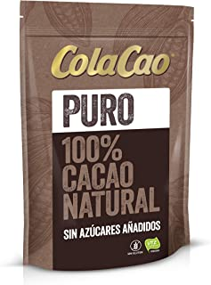 Cola Cao Puro: 100% Cacao Natural y sin Aditivos - Negro,