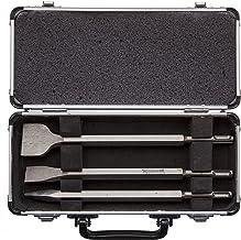 5 /& ndash; piezas en caja de aluminio 2 x chipping cinceles Conjunto de cincel 2 Makita D-42379 1 punta de desperdicio cincel sds-plus