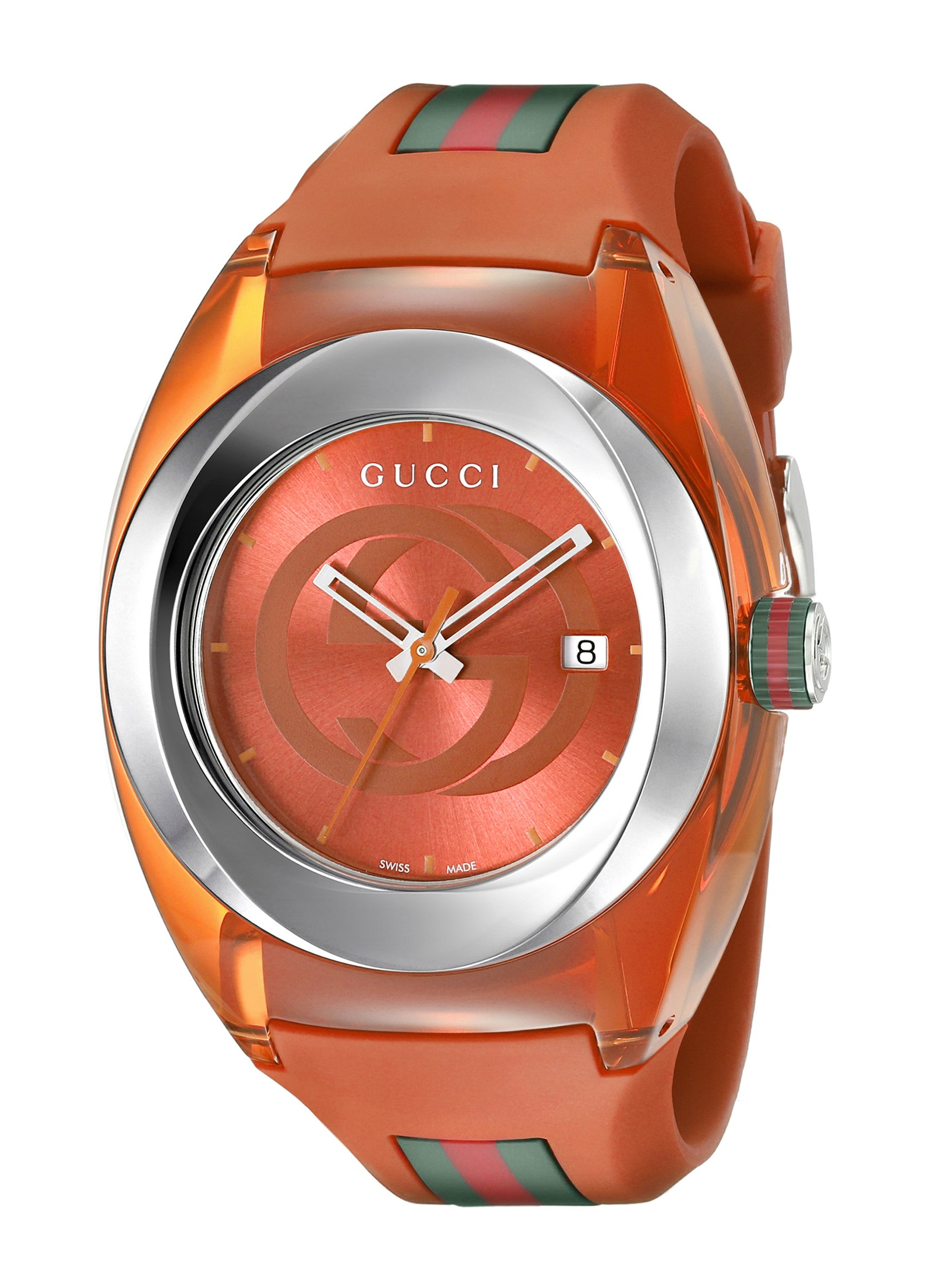 Gucci Analog Display Quartz Orange