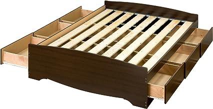 Prepac Mate's Platform Storage Bed with 6 Drawers, Full, Espresso