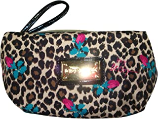Betsey Johnson Women's Box Wristlet Cosmetic, Small, Cheetah Baby Natural
