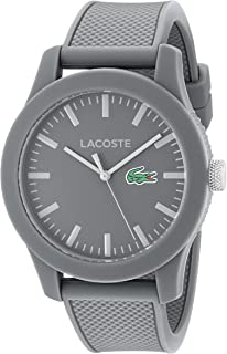 Men's Lacoste.12.12 Japanese-Quartz Watch with Silicone Strap, Grey, 20 (Model: 2010767)