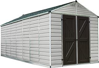 Palram Skylight Storage Shed - 8` x 16` - Tan
