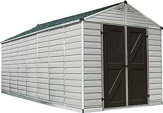 Palram Skylight Storage Shed - 8' x 16' - Tan