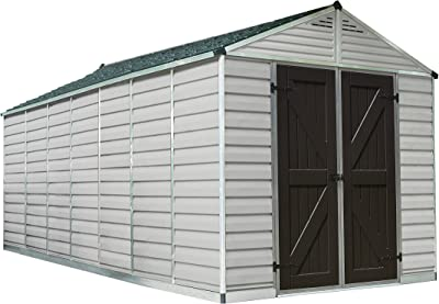 Palram Skylight Storage Shed - 8' x 16' - Tan