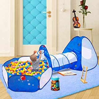 Homfu Kids Indoor and Outdoor Toy Tent Princess Prince Castle Children Play Tent and Portable Playhouse for Boys Girls Fun Plays … (Mermaid)