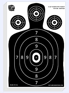 Dynamic Shooters – 100 Pack 17X25-inch Made in USA Large Paper Silhouette Range Shooting Targets - Firearm, Rifle, Gun, Pi...