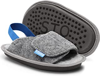 STQ KIDS Toddler Boys & Girls Classic Fuzzy Slippers Warm and Cozy Slip on House Shoes