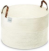 Decorative Extra Large Rope Basket - Eco-Friendly Woven Cotton Baskets for Storage Decorative Storage and Laundry Basket -...