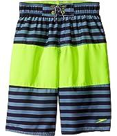 Speedo Kids - Bold Striped Blocked Volley Shorts (Little Kids/Big Kids)