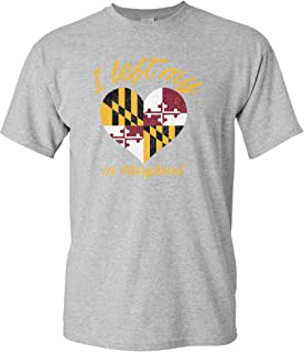 I Left My Heart in State - State Pride Hometown Flag T Shirt
