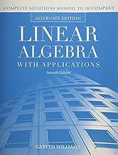 Ism- Linear Alg W/ Apps 7e, Alt Ed Instruct Sol Manual
