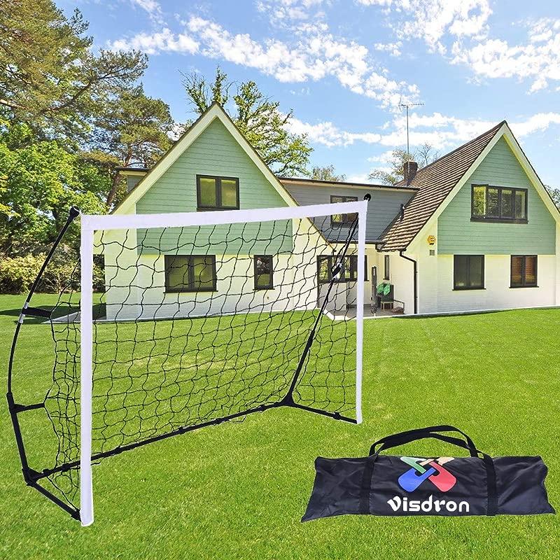 Salaks Portable Soccer Goal Pop Up Soccer Goal And Net Indoor Or Outdoor Soccer Goal Goal Folds For Storage Single Soccer Goal US Stock