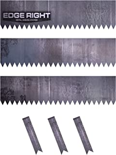 Edge Right - Hammer-in Landscape Edging - 24 inch Strips - 14-Gauge Cor-Ten Steel - 8 inch Depth (3 Pack)